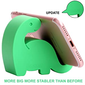 "Plinrise Animal Desk Phone Stand, Update Dinosaur Stripe Silicone Office Phone Holder, Creative Phone Tablet Stand Mounts, Size:1.3"" X 3.1"" X 2.8""(Green)"