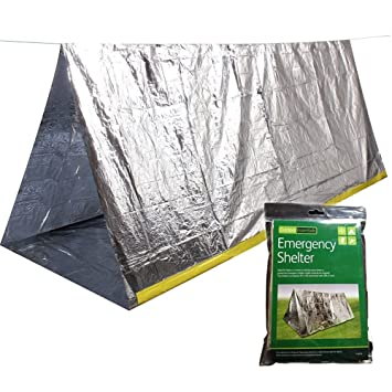 OUSPOTS Weather Tube Tent Emergency Silver Mylar Thermal Compact First Aid Kits Natural Disasters Equipment  sc 1 st  Amazon.com & Amazon.com: OUSPOTS Emergency Survival Shelter Tent | Emergency ...