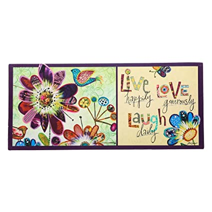 Evergreen Flag Live Love Laugh Decorative Rubber And Polyester Sassafras  Switch Door Mat   22u201d