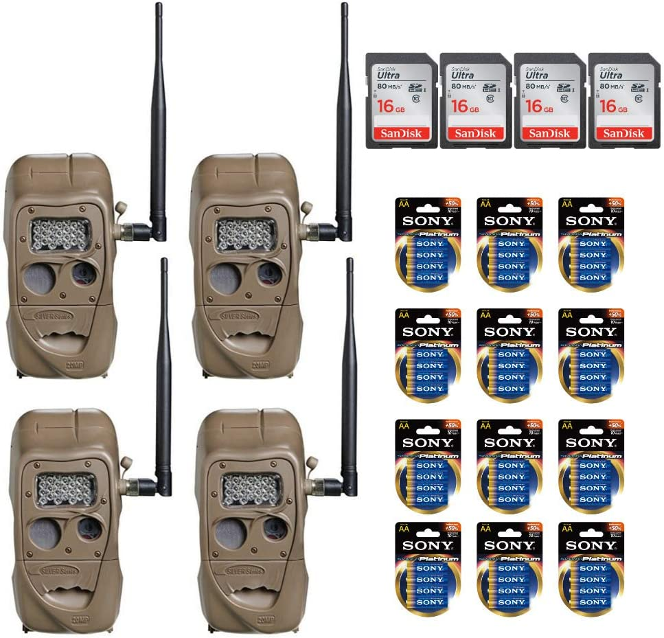 Cuddeback CuddeLink Wireless Long Range IR Game Trail Cameras - Ready to Use Bundle