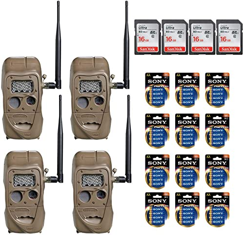Cuddeback CuddeLink Wireless Long Range IR Game Trail Cameras – Ready to Use Bundle