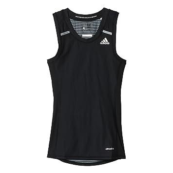 the latest 58416 1d5e9 adidas TF Chill Tank - Camiseta para Hombre, Color Negro Blanco, Talla 2XL