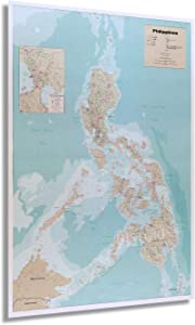 HISTORIX 1990 Map of the Philippines - 24x36 Inch - Philippine Islands Map - Includes Inset of Metro Manila - Philippines Poster - Geopolitical Map Produced by United States CIA (2 Sizes)