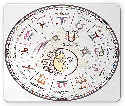 Alfombrilla De Ratón del Zodiaco,Gráfico Occidental con Todos ...
