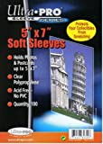 """Ultra Pro 5"""" x 7"""" Soft Sleeves (100) Trading Cards or Photo"""