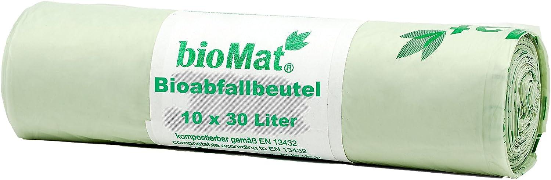 Bio Müllbeutel Biomüllbeutel Müllsack kompostierbar BioBag 30 L 14 St//Rolle