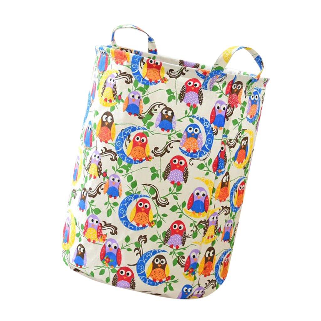 MagiDeal Foldable Toys Laundry Basket Washing Clothes Storage Organizer Bag Toys - #3