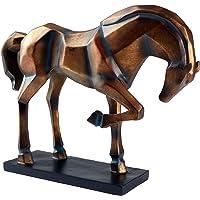 Hansmeier scultura di cavallo - figura statuetta decorativa - misure 47 x 35 x 13 cm - Stile raffinato ed elegante - moderna opera d arte artigiana