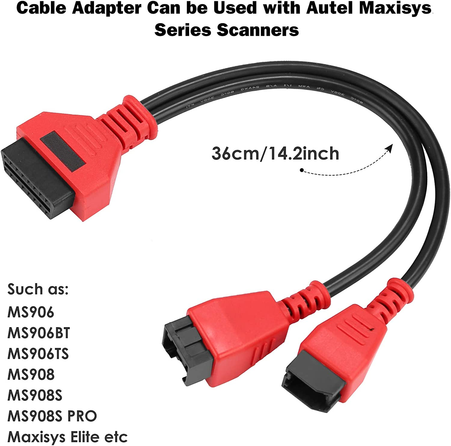 TTXSPP Cable Adaptor for Chrysler 12+8 Programming Cable Connector for Autel DS808 Maxisys Main Test Cable for Autel DS808 Maxisys MS905 MS906 MS906BT MS906S MS908 MS908S Pro