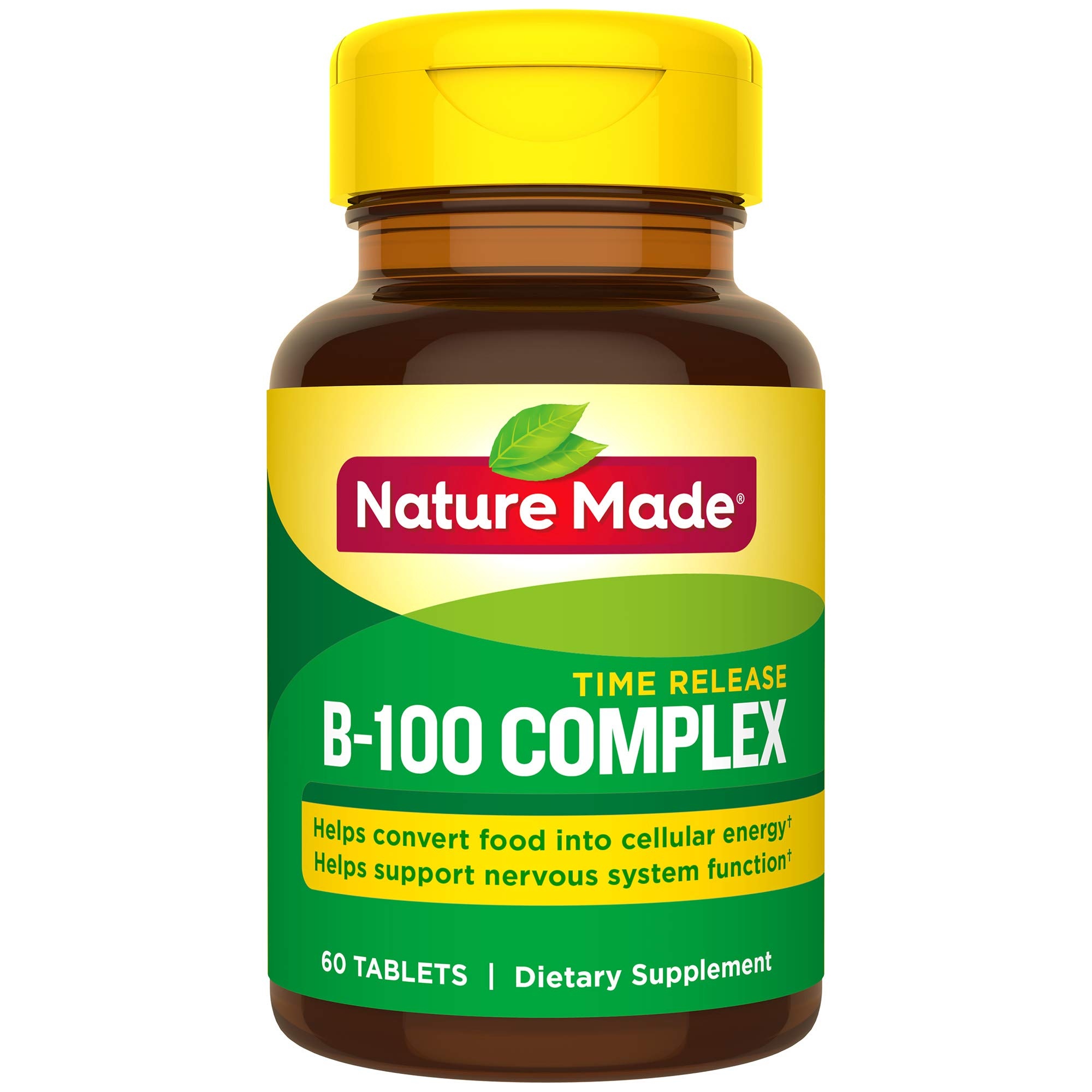 Nature Made Balanced B-100 Timed Release (Thiamin, Riboflavin, Niacin, B6, B12, Biotin, Pantothenic Acid & Folic Acid) Tablets 3 Pack by Nature Made