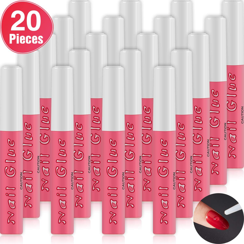 20 Pieces Nail Tip Glue Beauty False Adhesive Nail Glue Tip Nails Acrylic Glue for Nails Tips Make Up, 0.07 oz