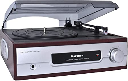 colore Karcher KA 8050 Giradischi con altoparlanti integrati Argento Importato dalla Germania