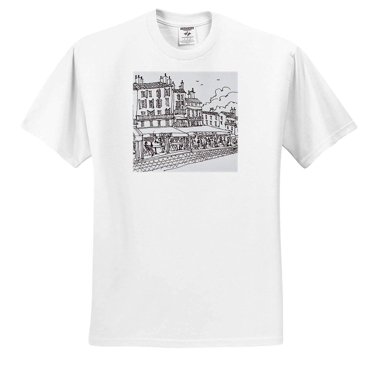 Adult T-Shirt XL Restaurant Dining French Riviera ts/_313143 France 3dRose Danita Delimont France Saint-Tropez
