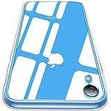 CASEKOO iPhone XR ケース 6.1インチ 強化ガラスケース クリア 硬度9H 全面保護カバー アイフォン XR ケース 全透明 ハードケース 耐衝撃 滑り止め クロス付き ワイヤレス充電対応 [クリア]