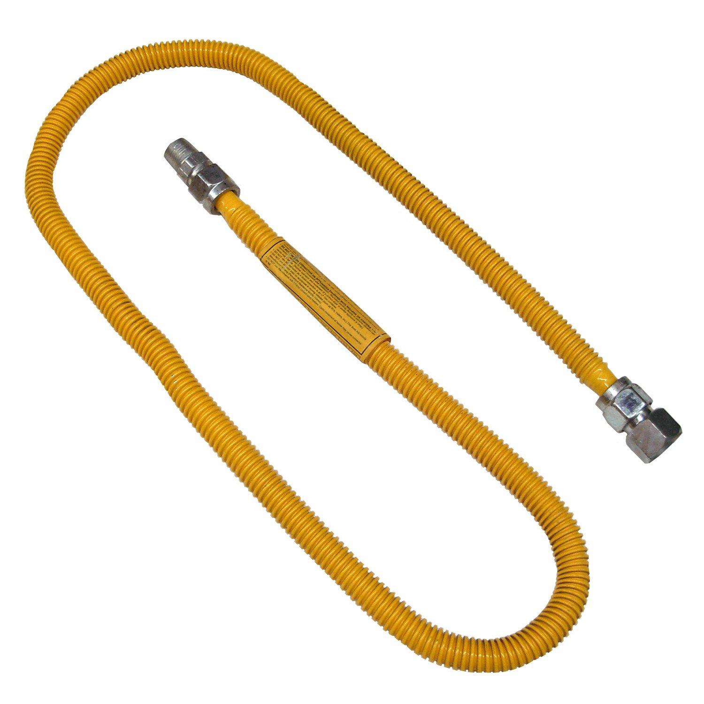 HomeFlex Heater Connector 3//8MIP x 1//2 FIP Gas Valve x 12 HFHC-7K-12