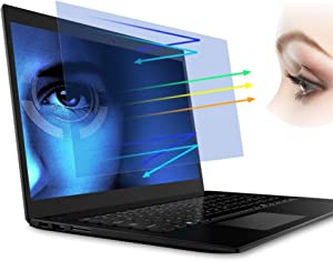 [2PCS Pack] 15.6-inch Laptop Crystal Clear Eye Protection Anti Glare Anti Blue Light Screen Protector, Notebook Computer Screen Guard Protector Compatible with HP/DELL/Asus/Acer/Sony/Samsung/Lenovo/Toshiba etc, Display 16:9 (2-Pieces/Pack)