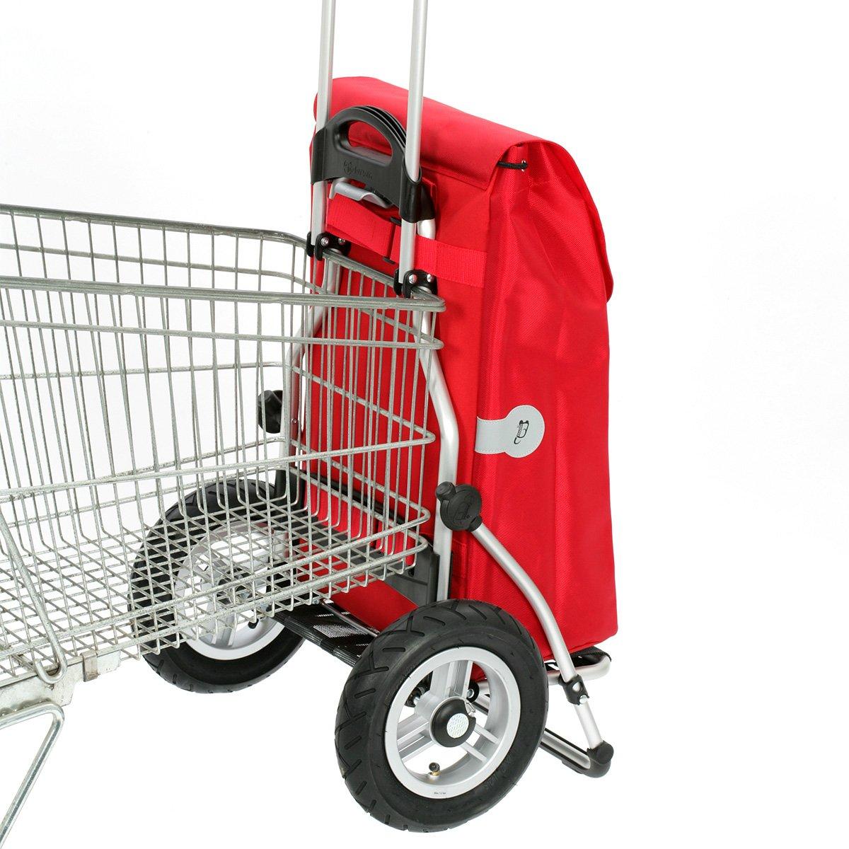 Andersen Shopper Royal mit kugelgelagertem Rad 25 cm luftbereift und 49 Liter Tasche Gerry grau