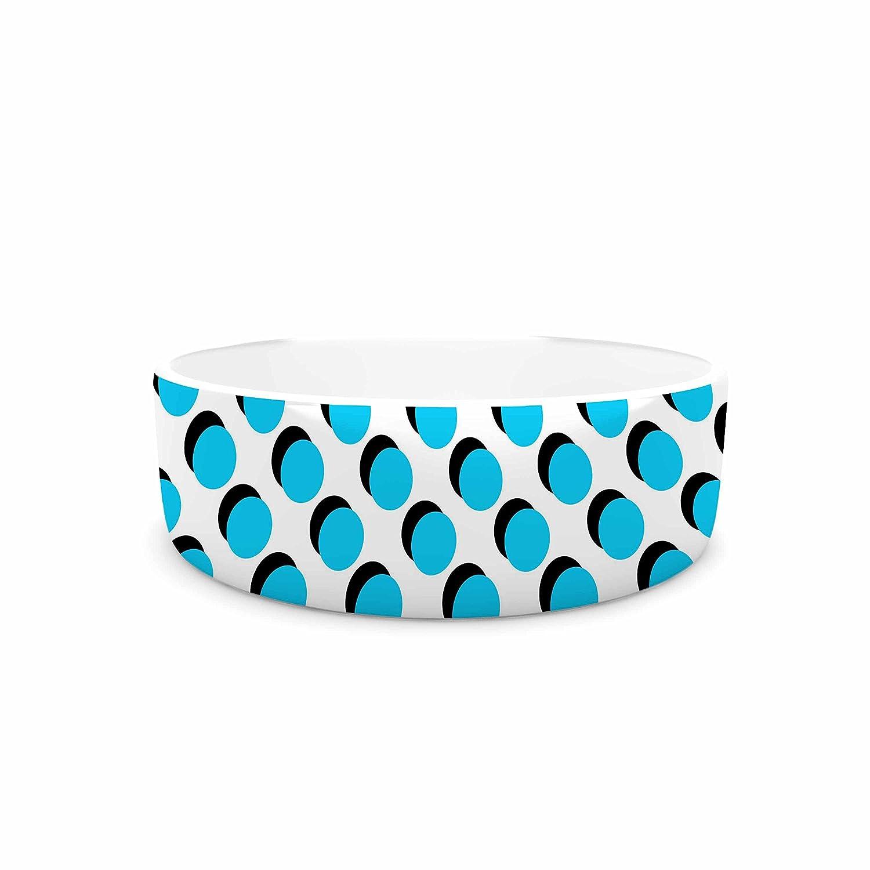 KESS InHouse Trebam Dupli  bluee White Pet Bowl, 7