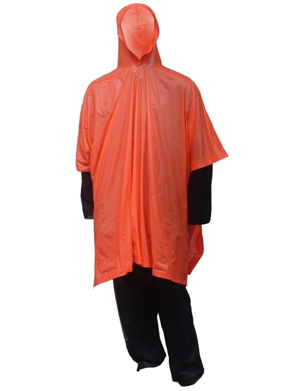 Amazon.com: Claro, Verde y Naranja Poncho con capucha y ...