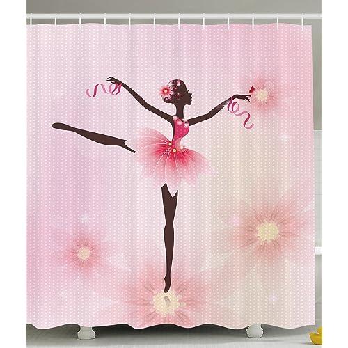 Ballerina Ballet Dancer Trees Polka Dots Artistic Gymnastic Ballet Skirt  Art Lover Girl Nursery Bathroom Kids