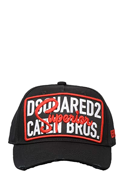 396e53e7383 DSQUARED2 Mens BCM0163 Cap in Black  Amazon.co.uk  Clothing