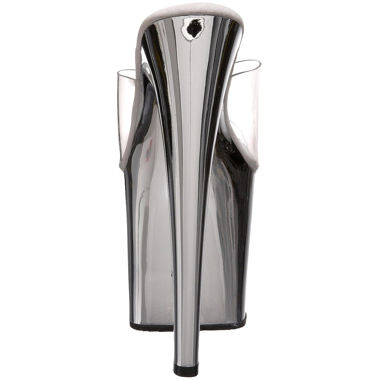 Pleaser Women's Tab00-701SCH Platform Sandal B00193XK18 11 B(M) US Clear/Silver Chrome
