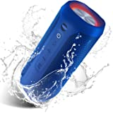 Waterproof Portable Bluetooth Speaker Pulsed Party Lights - Blue