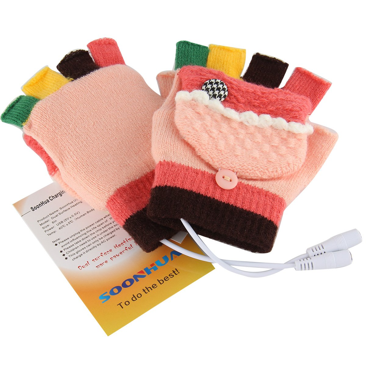 Amazon.com: USB Warm Gloves Oenbopo Women's PC Laptop USB Heated Half &  Full Finger Winter Warm Hand Gloves Warmer Wool (GS51): Computers &  Accessories