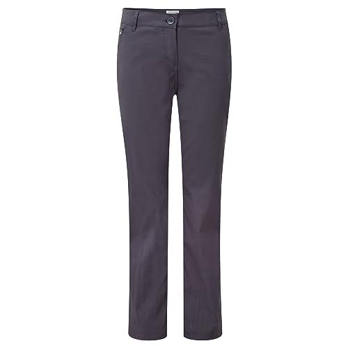 Craghoppers – Pantalones elásticos modelo Kiwi para mujer (42S/Grafito)