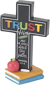 Dicksons Trust Him Teacher Serves Others 5 Inch Resin Double Sided Tabletop Cross