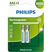 Pilha recarregável AAA 1.2V, PHILIPS, padrão, R03B2RTU10/59