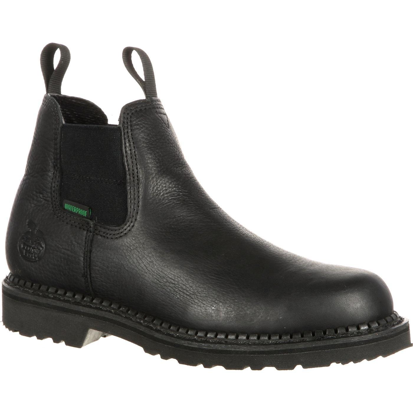 Georgia GB00084 Mid Calf Boot,black,8.5 M US