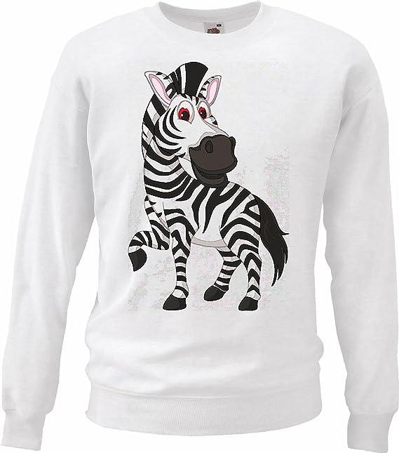 Sudaderas Suéter Elegante EN LA Cebra TRABEN Grevyzebra Cebra de montaña ESTEPA Zebra Caballo Salvaje Caballo en Blanco: Amazon.es: Ropa y accesorios