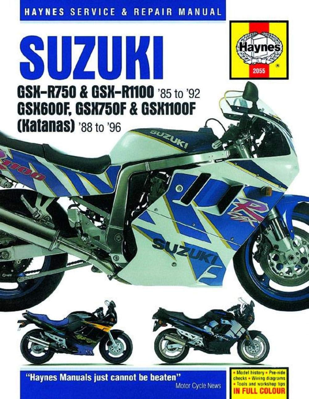 Amazon.com: 92-93 SUZUKI GSXR600: Haynes Repair Manual (MISC): Automotive