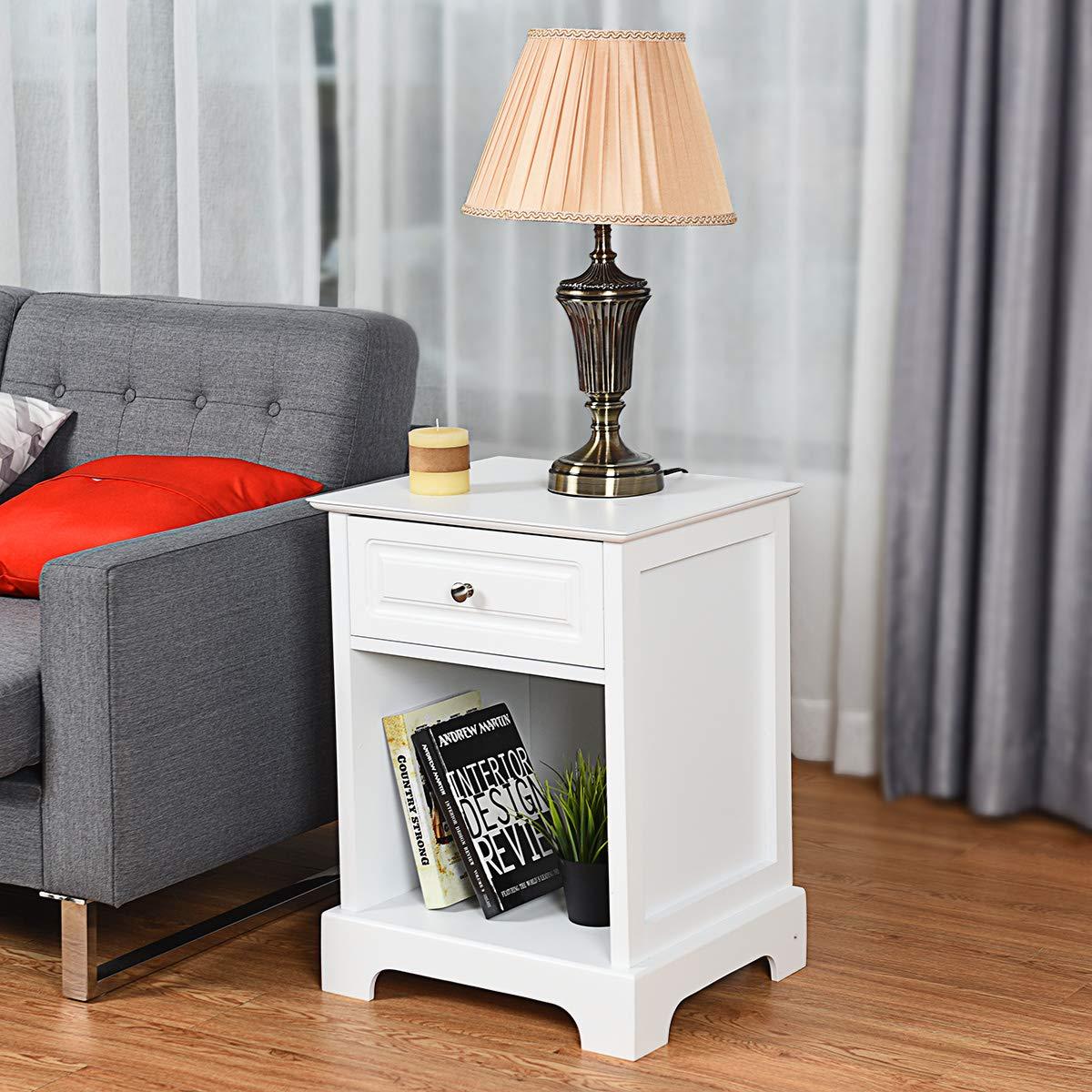 Amazon.com: Giantex - Soporte de noche con cajón abierto ...