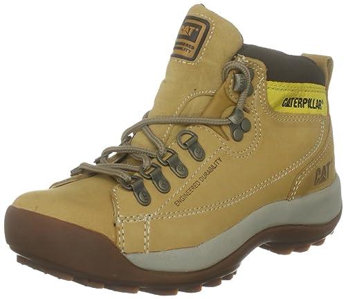 Cat Footwear Active Alaska - Zapatillas de senderismo de cuero nobuck para mujer, Amarillo (