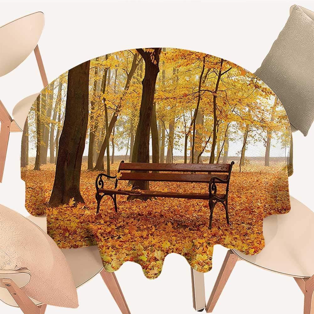 Dragonhome 円形テーブルカバー 寒い冬の日の公園の雪 鳥のランタン 結婚披露宴用 39 INCH Round 39 INCH Round カラー05 B07NDW92LY