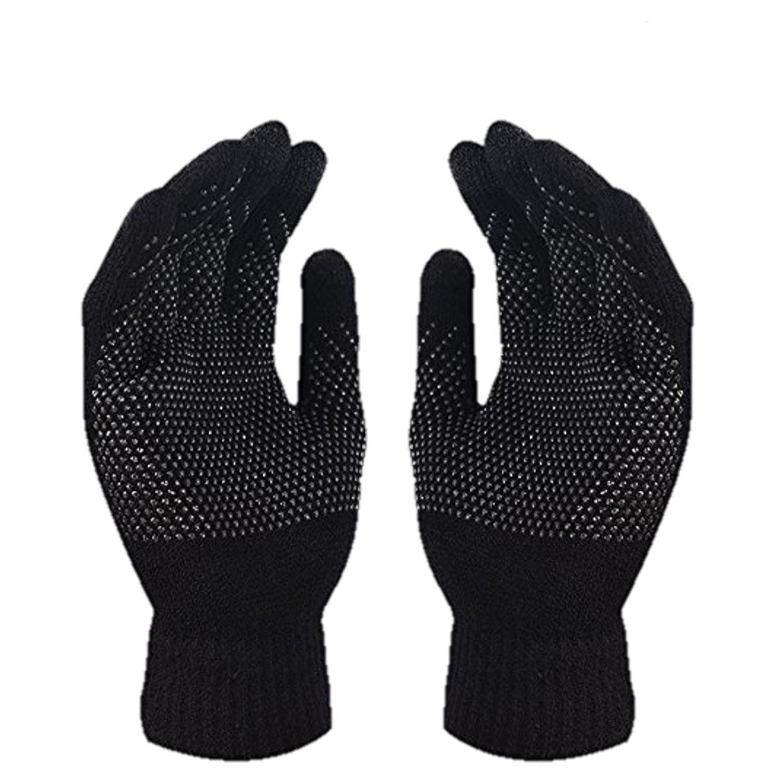 Winter Coral Fleece Touch Screen Gloves Soft Plush Thermal Warm Ski Snowboard Snow Mittens Christmas Gift for Women Girls Boys iHomey