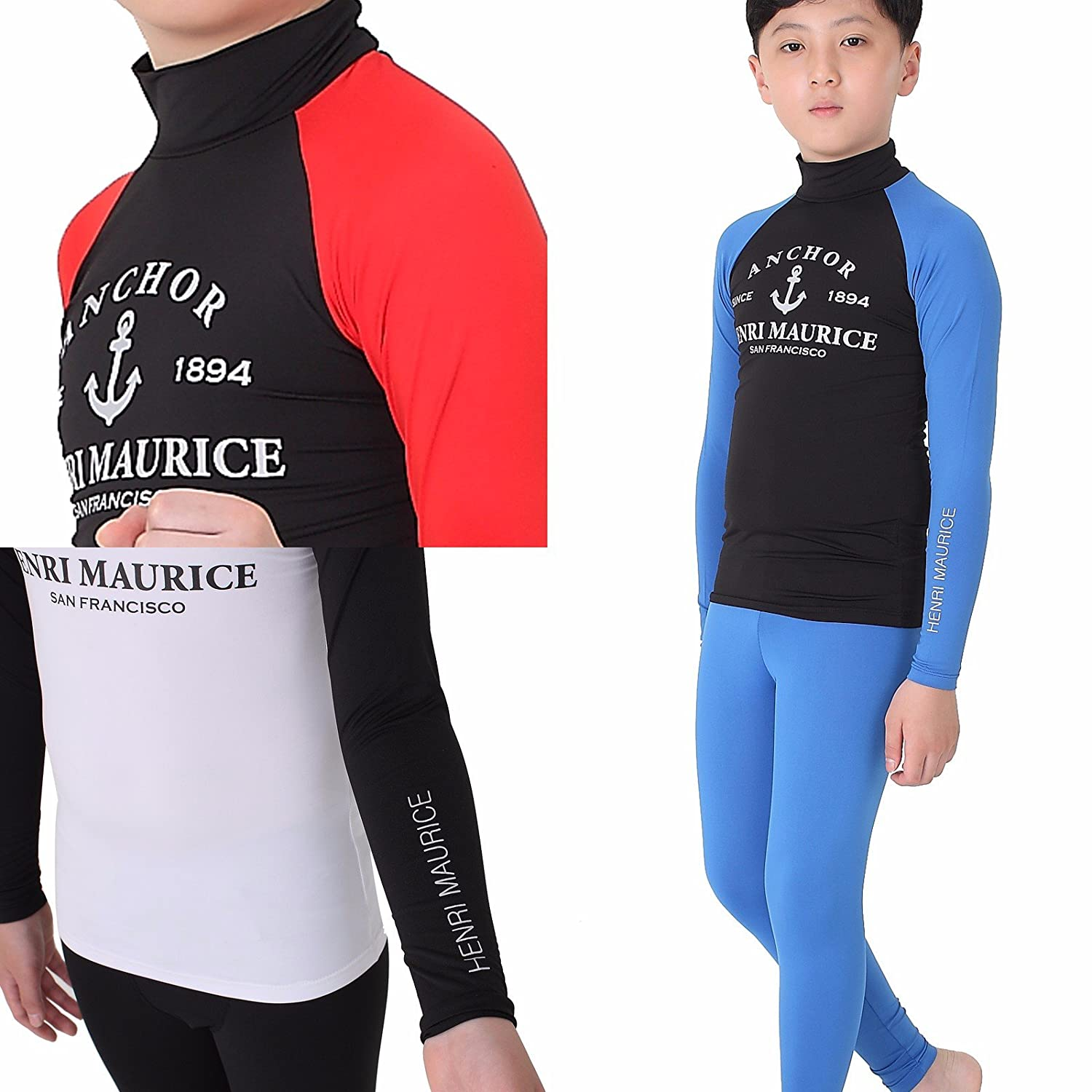 e8e6a197a3 Rash Guards 99.9% UV Sun Protection Rash Guard Kids Boys Youth Long Sleeve  Shirts Swimsuits ...