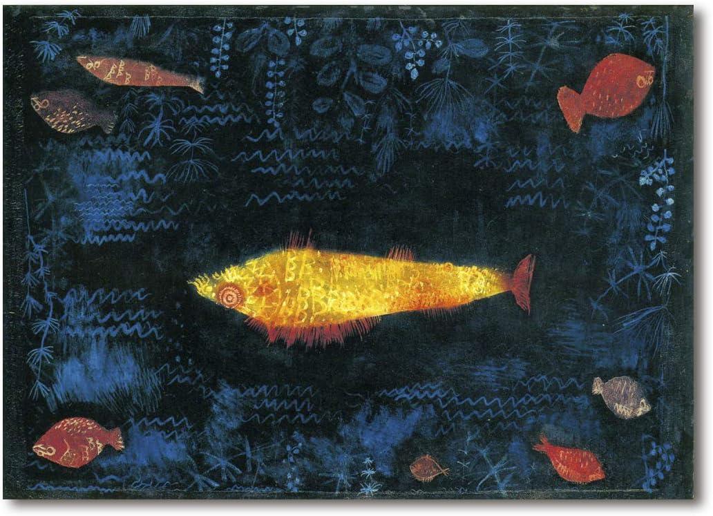 Cuadro Decoratt: El pez dorado - Paul Klee 67x48cm. Cuadro de impresión directa.