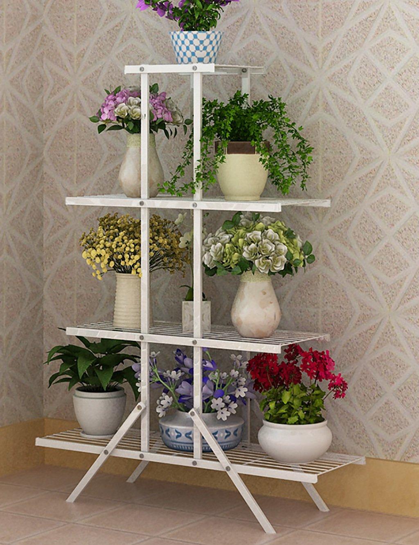 Blume Rack Eisen Vier-Layer-Indoor-Wohnzimmer Leiter Blume Rack Blume Topf Blume Rack ( farbe : B )