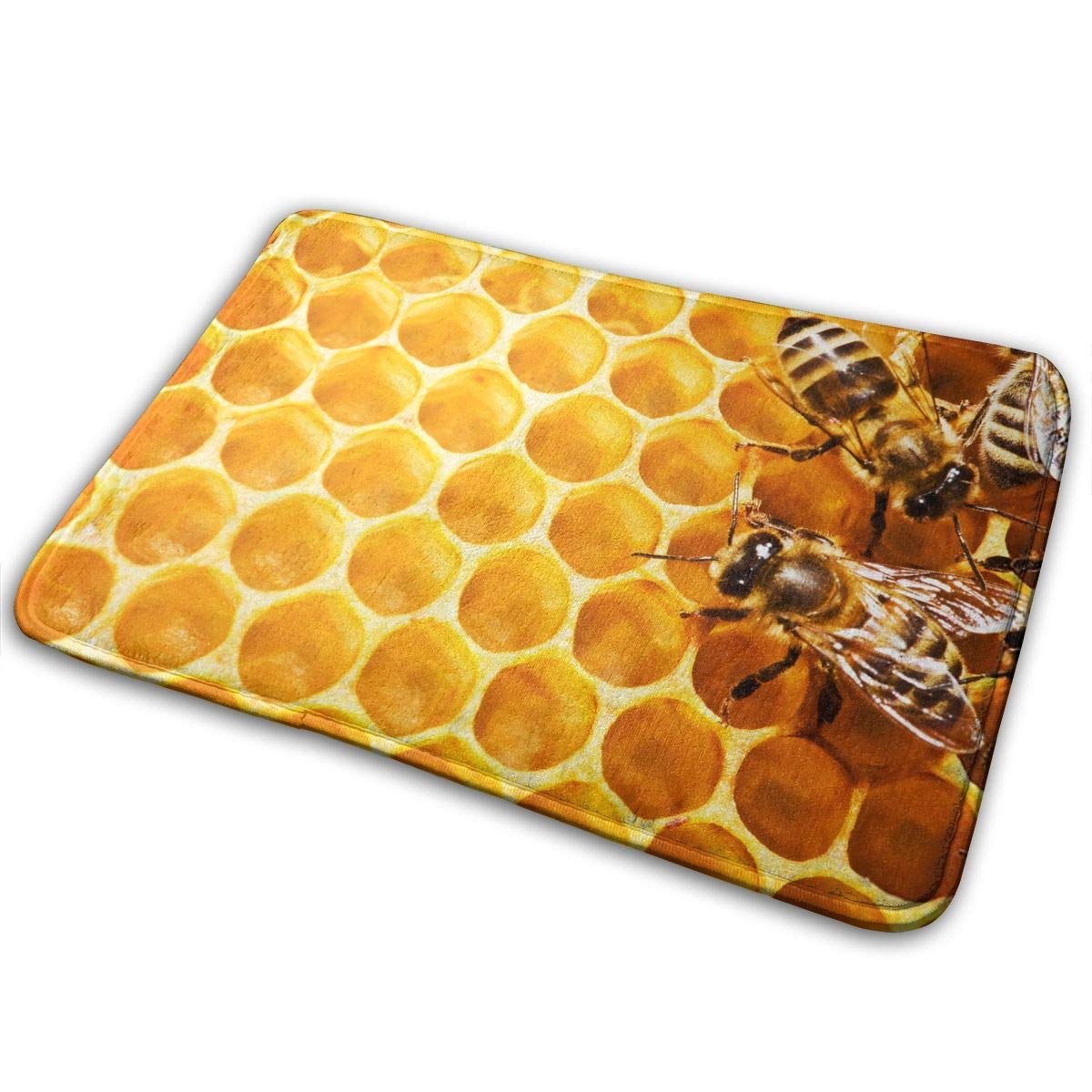 The Bee Hive,Non Slip Machine Washable Door Mats Bathroom Kitchen Rug Floor Mat Thicken Playmat Multi-Purpose Floorcover 31.5(L) X 19.7(W) Inch