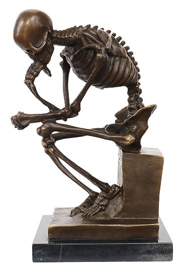 Bronze Skelett Denker Mann Bronzefigur Bronzeskulptur nach Rodin ...