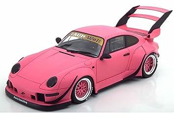 Porsche 993 RWB Rotana Matt Pink 1/18 Model Car by GT Spirit for Kyosho