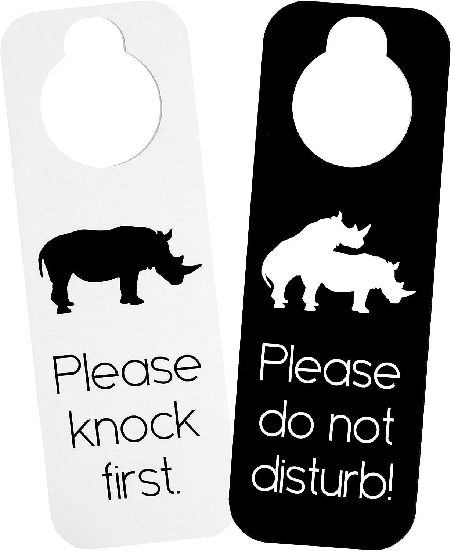 2 Sided Do Not Disturb Door Hanger Sign Style Decal Home Shop Store Bedroom Art
