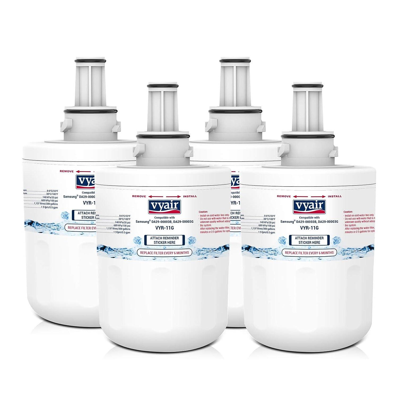 4 x VYAIR VYR-11G refrigerador de hielo y agua filtros para adaptarse a Samsung Aqua Pure PLUS DA29-00003G, HAFCU1/XAA, HAFIN1/EXP, DA97-06317A: Amazon.es: ...