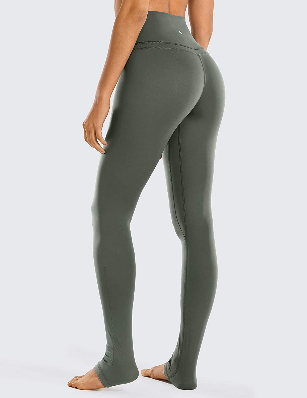 32 inches CRZ YOGA Women Naked Feeling High Waist Goddess Extra Long Over The Heel Yoga Legging with Pocket