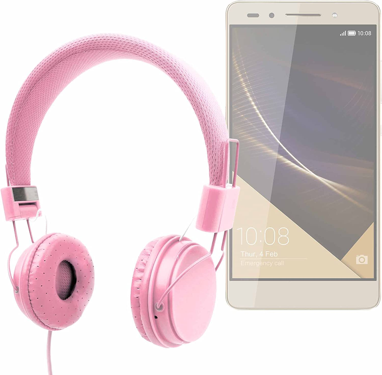 DURAGADGET Auriculares De Diadema Color Rosa para Smartphone Honor ...