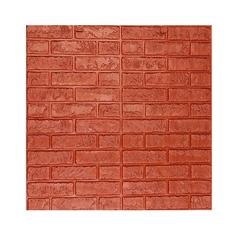 Fxbar 3D Wall Paper Brick Stone Rustic Effect Self-Adhesive Wall Sticker Home Decor