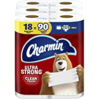 Ultra Strong Clean Touch Toilet Paper, 18 Family Mega Rolls = 90 Regular Rolls (1 Pack)